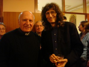 Župnik Jože Klun in Adi Smolar