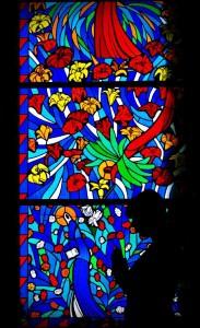 Vitraž cerkev sv. Lovrenca